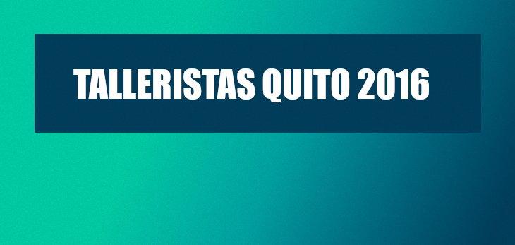 Talleristas II Encuentro Quito 2016