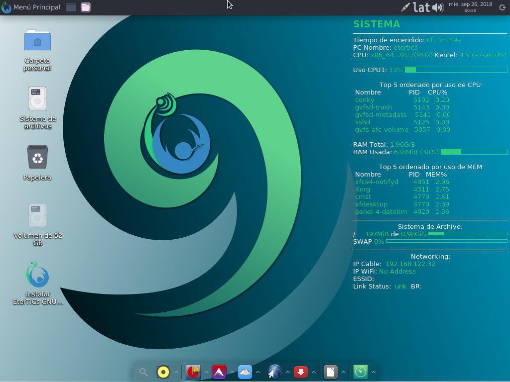 Etertics GNU/Linux 9 Fenix