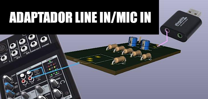 adaptador line in mic in