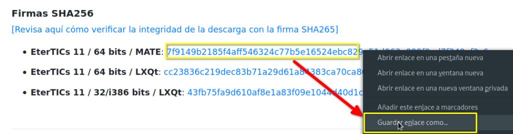 Comprobar SHA256