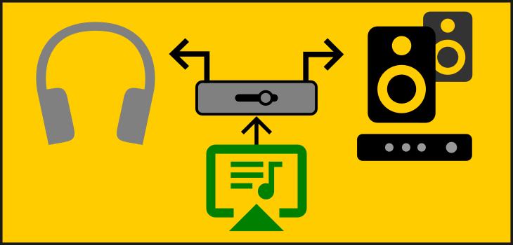 Conmutador de audio sencillo